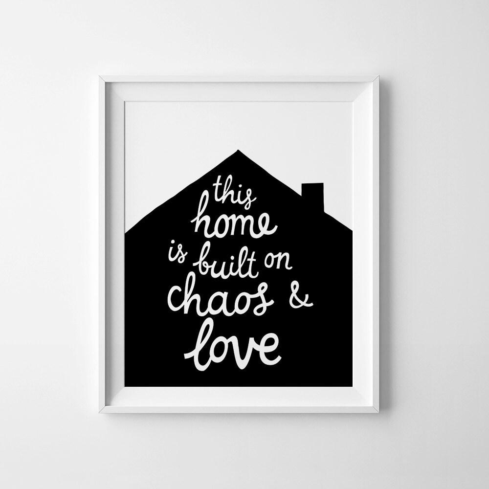 Printable Family Wall Decor : Family printable wall art decor inspirational quote poster