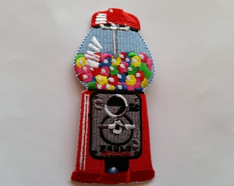 Bubble Gum Machine Yummy Snack applique iron on patch
