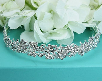 Rhinestone Crystal bridal headband headpiece, wedding headband, wedding headpiece, rhinestone tiara, bridal accessories 210703214