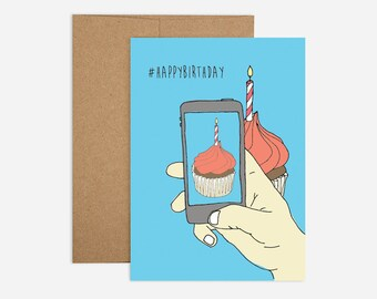 HASHTAG HAPPY BIRTHDAY Greeting Card