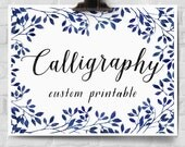 Custom Calligraphy Printable, Personalized Calligraphy Print, Custom Quote Art, Digital Download, Calligraphy Poster