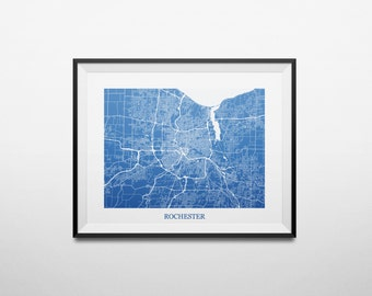 Rochester, New York Abstract Street Map Print