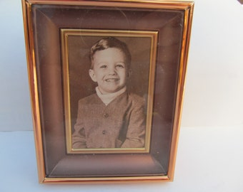 Vintage  Copper  craft  Guild  Picture  Frame   shadow  box  frame   4 1/2''  x 3 1/2''