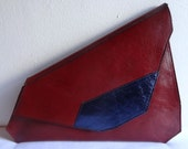 Mica Red Asymmetrical Clutch