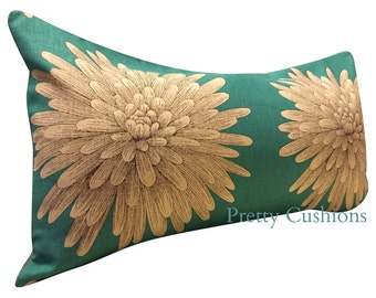 Harlequin Kalaya Eloni Turqoise Blue Bolster Cushion Cover