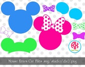 Mouse Ears Big Cut Files .PNG, .DXF, .SVG