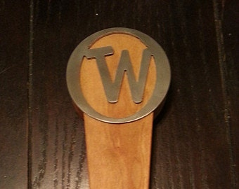 Beer Tap Handle -  Monogrammed Wood and Stainless Steel - Gifts for Him -Wedding Gifts for Him -Unique Wedding Gifts - ID#SSLWW