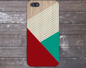 Geometric Burgundy x Mint Stripes Design Case for iPhone 6 6 Plus iPhone 7  Samsung Galaxy s8 edge s6 and Note 5  S8 Plus Phone Case
