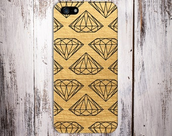 Geometric Black Diamonds x Scratched Gold Case for iPhone 6 6 Plus iPhone 7  Samsung Galaxy s8 edge s6 and Note 5  S8 Plus Phone Case