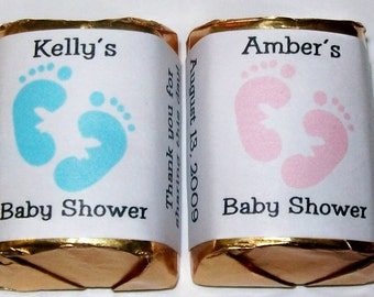 120 BABY SHOWER Candy Wrappers Favors personalized labels ~ Free Shipping