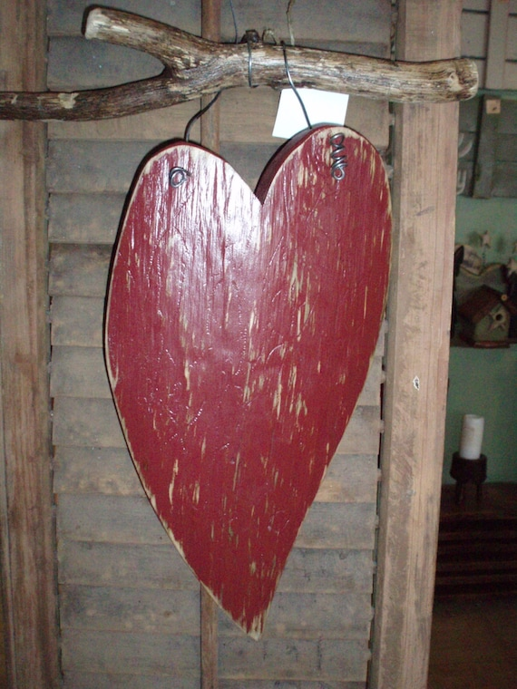Rustic heart wall decor : Rustic heart wall hanging by furniturebytodd on etsy