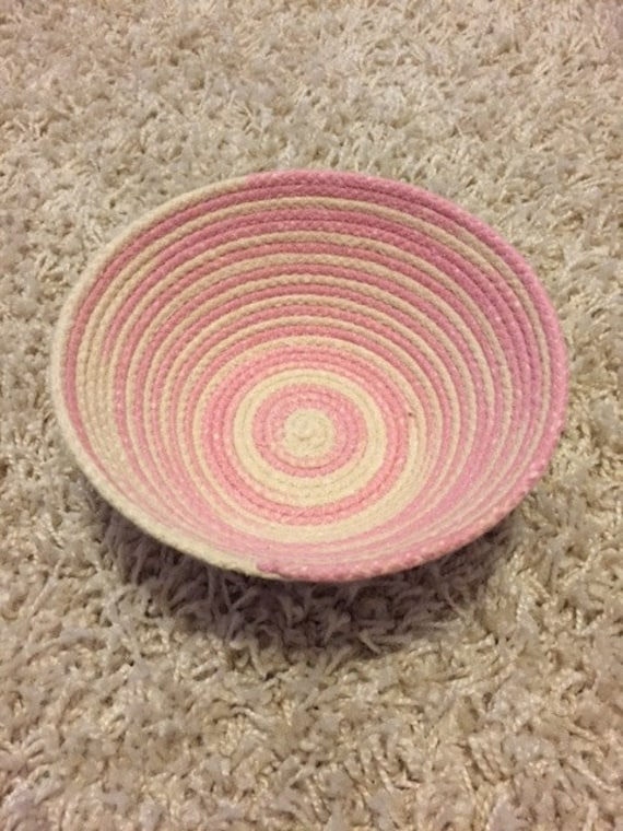 Handmade Rope Basket : Small handmade coiled rope basket by breezemelts on etsy