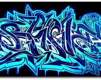 Personalized Graffiti Name Design Canvas