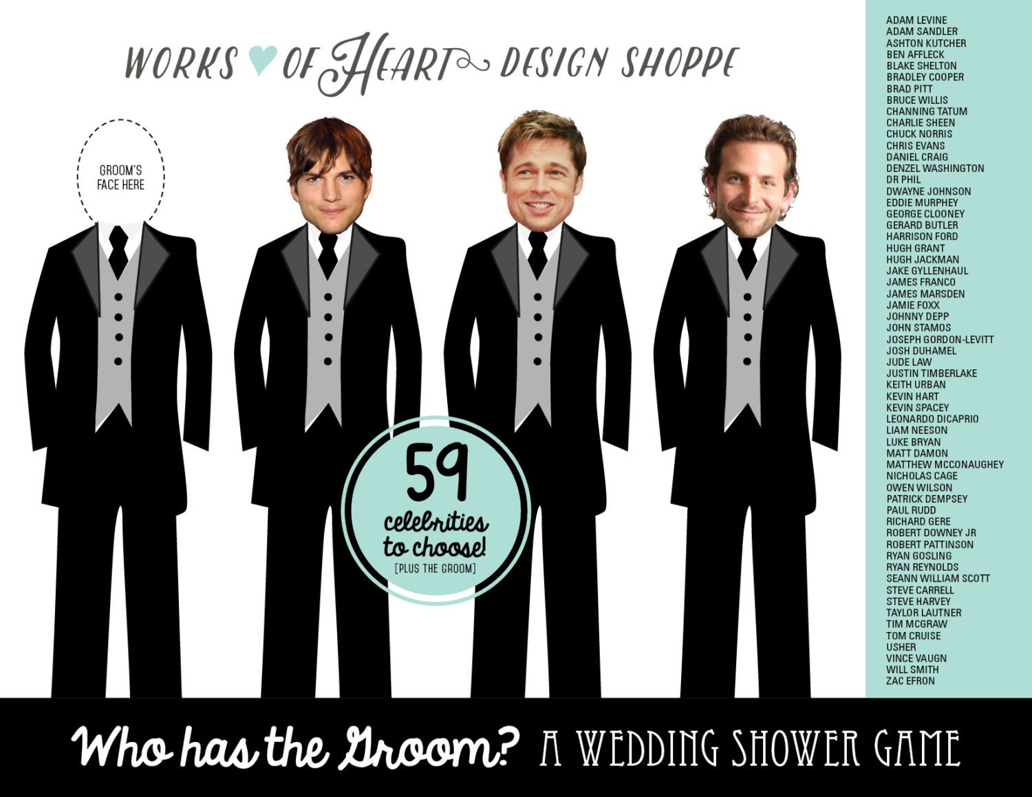 who has the groom wedding shower game by worksofheartshoppe