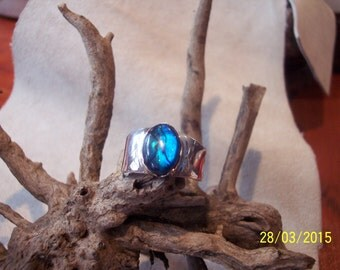 Solid antique Silver band ring