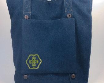 BIG SALE, Blue Denim, Tote Bag, Customizable Bag, Tote With Removable Pockets, Everyday Bag, Casual Tote, Denim Bag, Shoulder Bag, Purse