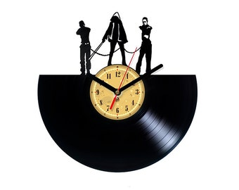 Vinyl Record Clock - Michonne - Walking Dead.