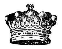 Crown Digital Vintage Printable Graphic No.3