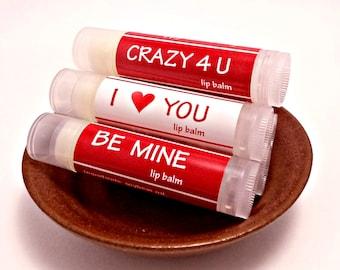 Valentines Day Gift For Him, Lip Balm 3 Pack, Valentines Gift, Flavored Lipbalm, Boyfriend Gift Idea, Girlfriend Gift