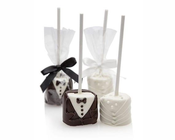 Marshmallow Bride And Groom Pop, Wedding Favors, Desert Bar, Candy Buffet, Bridal Shower, Rehearsal Dinner Favors