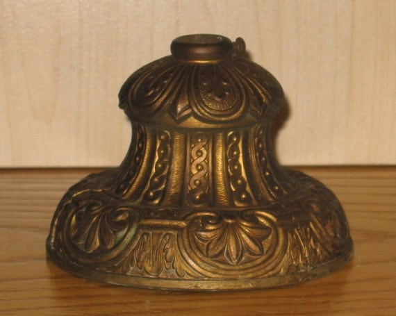 Antique Brass Shade Holder Lighting Part By Thelamppostofmaine