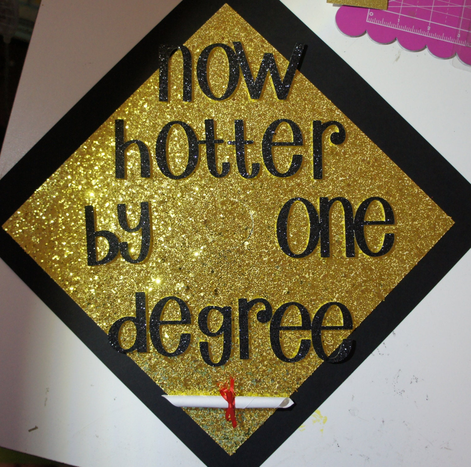 Custom Graduation Cap Topper Hotter by e Degree