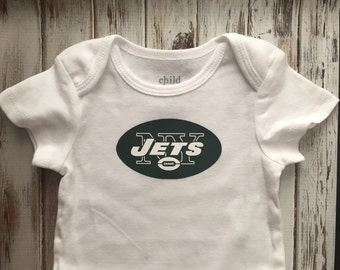 New York Jets onsie, babys first photos, baby shower gift, football