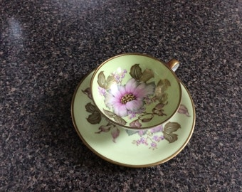 Bavarian Floral Cup and Saucer
