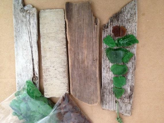 Diy Driftwood And Maine Sea Glass Christmas Tree Ornament Kit