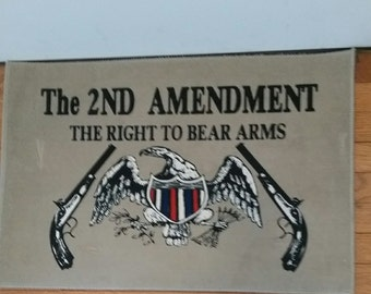 2nd amendment floor mat
