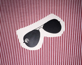 Sunglasses with Monogram Decal