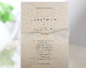 Wild Laser Cut Flowers –Wedding Invitation Sample (HB13603)