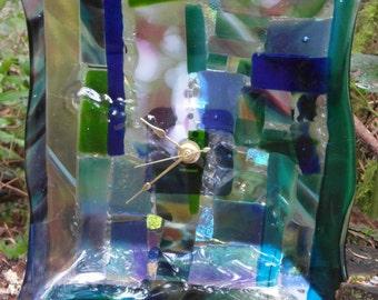 Beautiful! Dichroic Fused Glass Clock