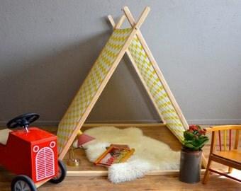 "Tent-cabin for children ""Belle Etoile"" Tipi-a-frame tent gift child kid gifs workshop Belle Lurette"