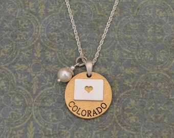 Colorado Love Necklace with Pearl Accent - 22452