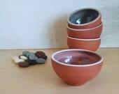 Small Pink Blush Ceramic Bowl – Rustic bowl - Trinket dish - trinket bowl - face mask bowl - facial dish