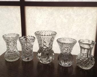 Five Thistle Vases