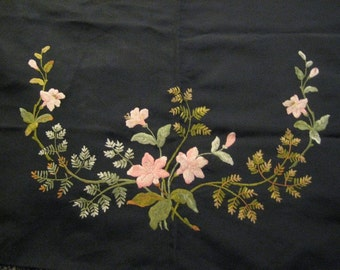 Victorian Silk Embroidered Half Apron Opportunity