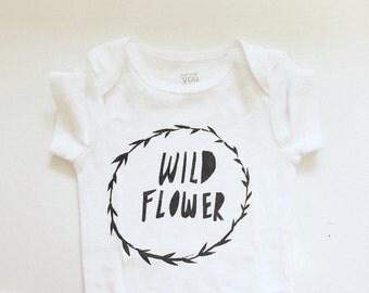 Baby Bodysuit- Wild Flower