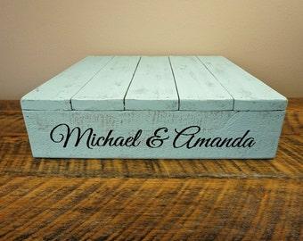 """Personalized Wedding Cake Stand - Shabby Chic 16""""x16"""", 18""""x18"""", 20""""x20"""""""