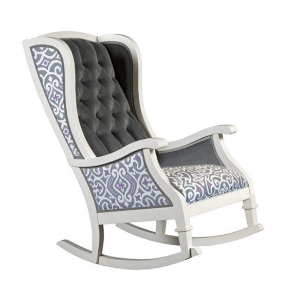 Items similar to STEVIE Rocker : handmade tufted rocking chair with ...