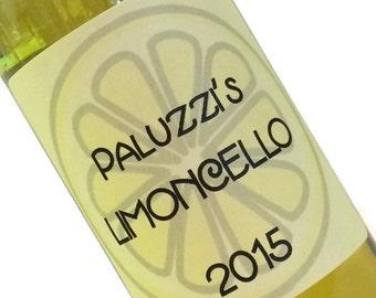 Limoncello Labels - for homemade Limoncello, Limecello or Orangecello