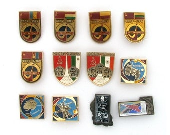 Space, Badges, Pick from Set, Cosmos, Rocket, Vintage collectible badge, Soviet Vintage Pin, Soviet Union, Made in USSR