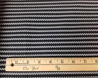 1 yard Classic Minis Black Stripe by Robert Kaufman