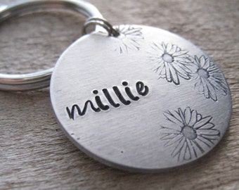 The MILLIE - Hand Stamped Pet ID Tag - Personalized Pet/Dog Tag - Dog Collar Tag - Engraved Dog Tag - Handsatmped Pet Tag -  Dog Tag