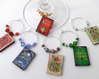 Book Club Wine Charms