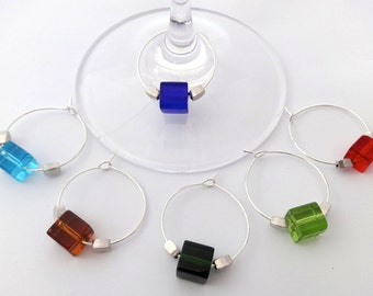 Cubist Wine Charms