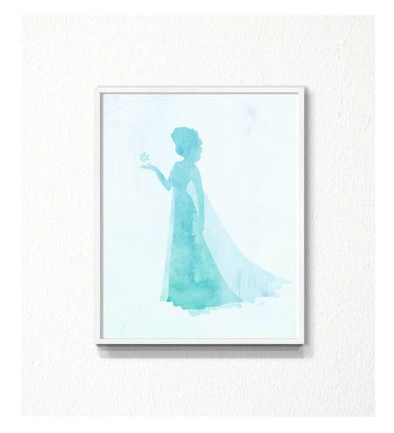 Frozen Silhouette Printables Disney Frozen Elsa Silhouette