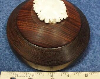 Ebony Wood Box with Antler Handle