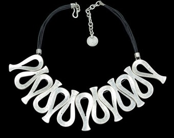 Silver Plated Tulip Necklace